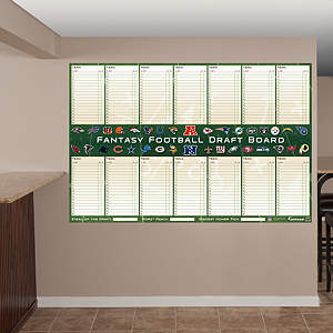 NFL Dry Erase Fantasy Draft Board Fathead Wall Decal